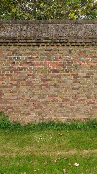 Brick wall at Syon Park, England.