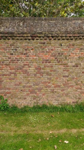 Brick wall at Syon Park, England.